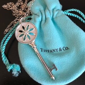 Tiffany & Co. Large Daisy Key Pendant w/ Diamond